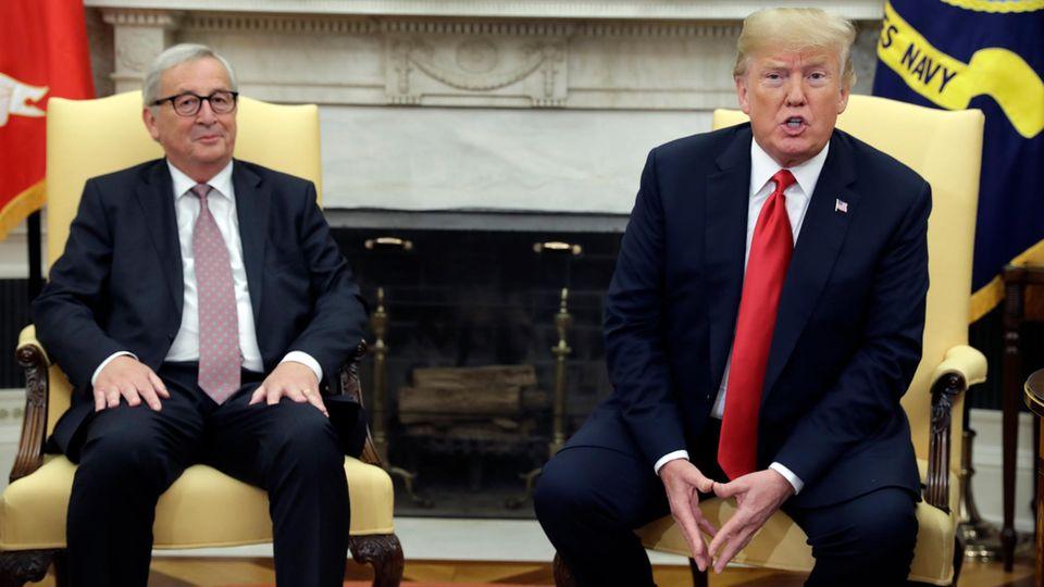 Jean-Claude Juncker hat Donald Trump Zugeständnisse abgerungen