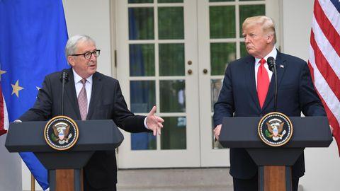 Jean-Claude Juncker zu Besuch in den USA: Es geht nur darum, den Trump zu zähmen