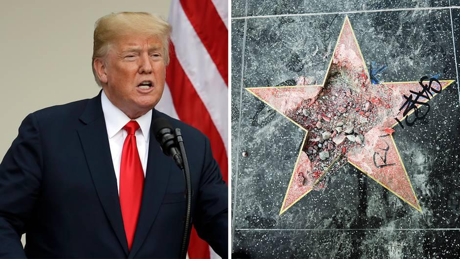 Walk of Fame: Festnahme: Mann zerstört Trumps Hollywood-Stern – dann kommt unerwartete Hilfe