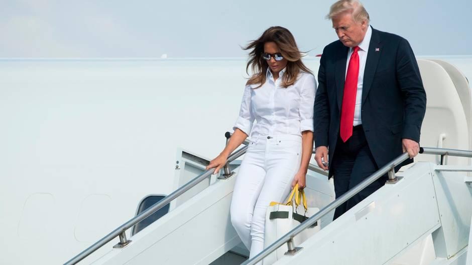 Melania und Donald Trump: Schlechte Laune imWeißen Haus