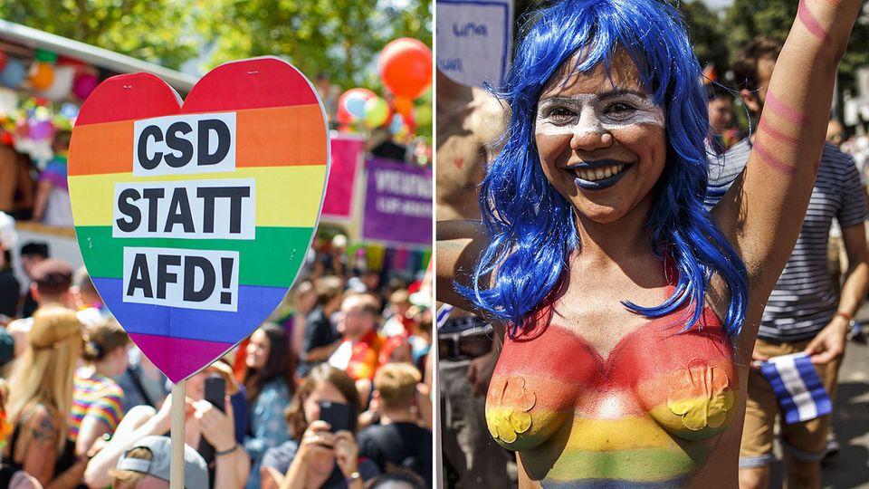 Die CSD-Parade demonstrierte in Berlin für Toleranz und Respekt für Homosexuelle.