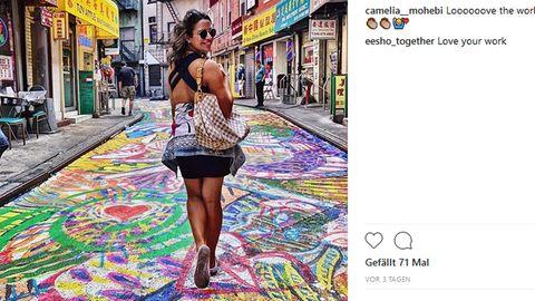 DieDoyers Street in New York City wurde vonChen Dongfan in einen Farbenrausch versetzt.