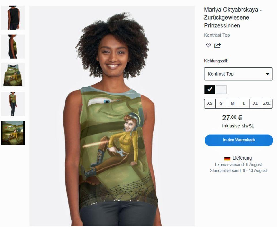 """In Modellen und populären Darstellungen wird Mariya Oktyabrskaya mit dem riesigen Gabelschlüssel dargestellt, mit dem sie ihren T-34 reparierte. Hier im Katalog von """"Rejected Princess"""" - einem Projekt, das sich den Frauen widmet, die von den Disney-Filmenausgelassen werden."""