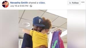 Ein Scrennshot aus dem Video zeigt Nevaeha Smith und ihren Vater, die sich umarmen