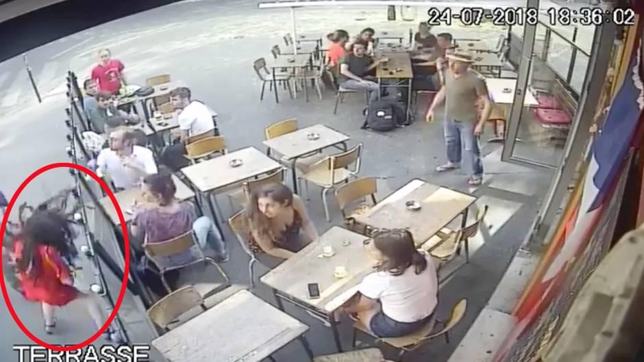 Gewalt gegen Frauen: Mann ohrfeigt Studentin heftig - Video löst Debatte in Frankreich aus