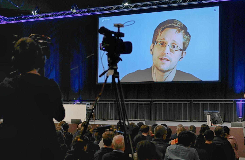 Edward Snowden beim 34. Chaos Communication Congress