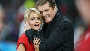 David Hasselhoff und seine dritte Frau Hayley Roberts