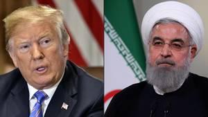 US-Präsident Donald Trump(r.) und sein iranischer Kollege Hassan Ruhani haben sich noch vergangene Woche offen gedroht