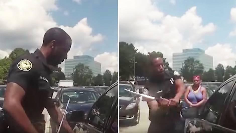 USA: Polizist schlägt Autoscheibe ein, um Baby zu befreien
