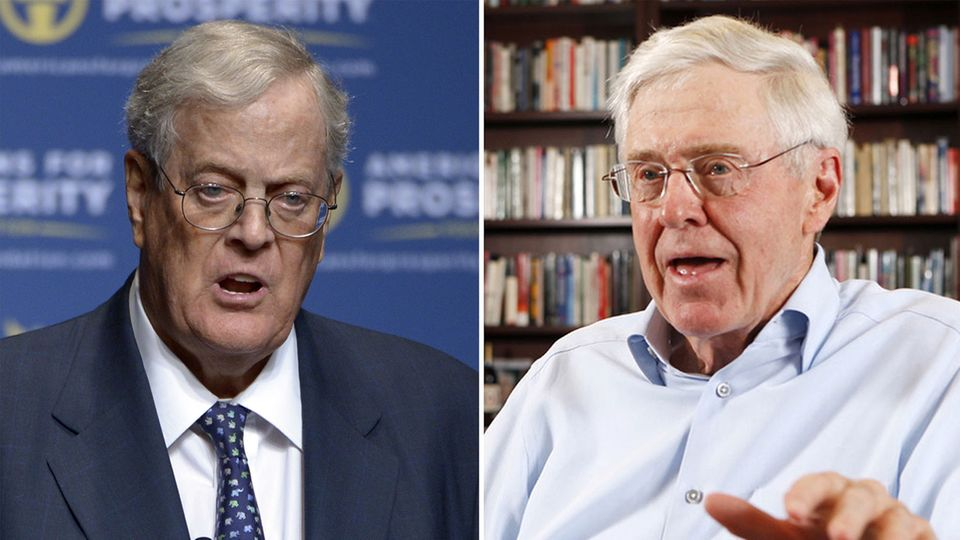 Einflussreiche Gegner der Trump-Regierung:Charles und David Koch(links)