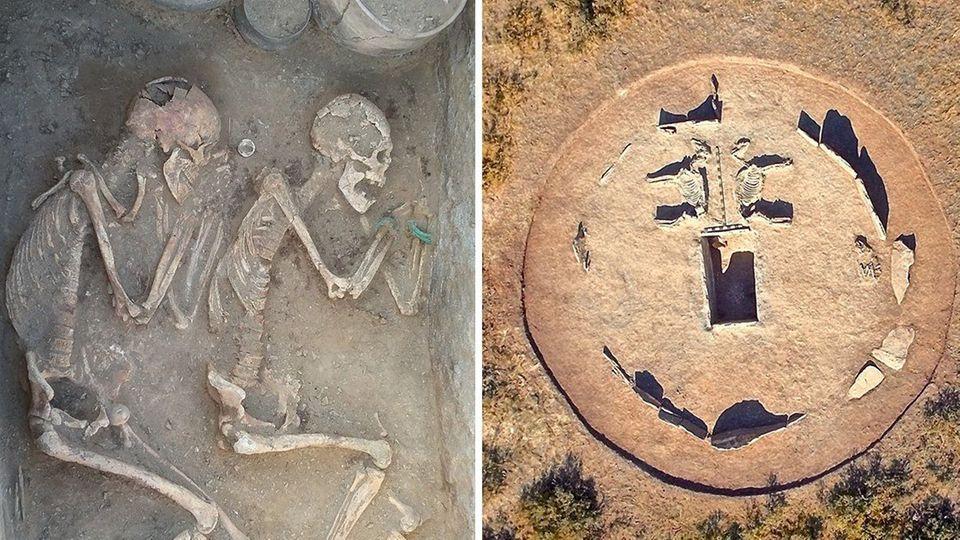 Eine Liebe für die Ewigkeit - unklar ist, obdas Paar auch vor dem Tod zusammen war.