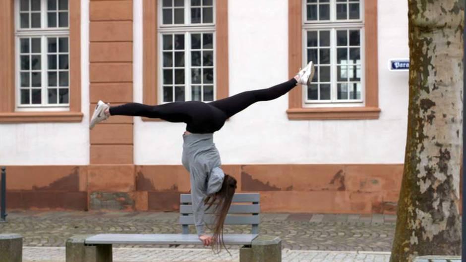Turnweltmeisterin Pauline Schäfer kann überall eine gute Figur machen.