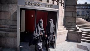 Burka-Trägerinnen in Kopenhagen.