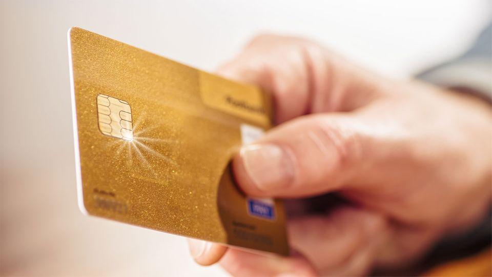 Goldene Kreditkarte