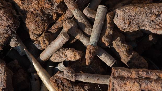 Weltkriegsmunition durch Niedrigwasser vermehrt freigelegt