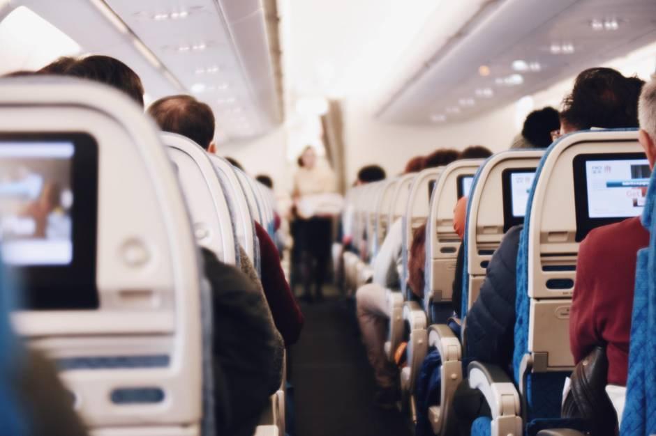Sitzreihen im Flugzeug