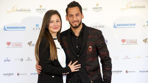 Hakan Calhanoglu und seine Noch-Ehefrau Sinem