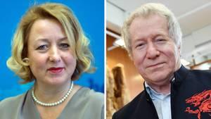 Die Berliner Senatssprecherin Claudia Sünder und der SchriftstellerHans-Joachim Lehmann