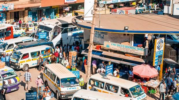 Trubel auf den Straßen Nairobis