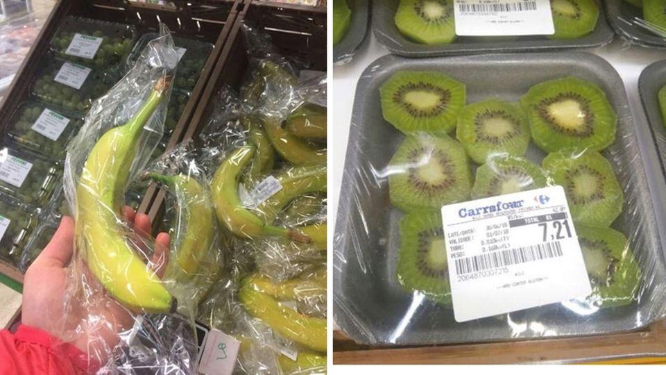 """Empörung über Supermarkt: Kunden sind wütend: Real packt Kirschen aus Plastik aus – und verkauft sie als """"verpackungsfrei"""""""