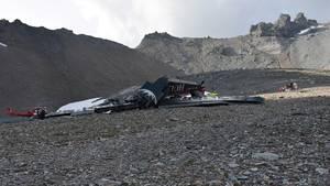 Am Samstag zerschellte die Ju-52 am Berg Piz Segnas