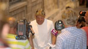 Jan Ullrich vor Journalisten in Palma de Mallorca