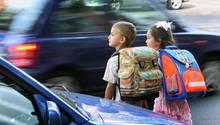Schulstart Schulweg