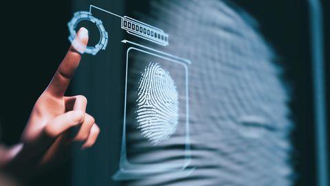 Biometrische Daten wie der Fingerabdruck lassen sich extrem leicht erbeuten