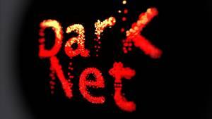 """In roten Lettern steht das Wort """"Darknet"""", der anonyme Teil des Internets. Auch Kinderpornografie ist hier zu finden."""