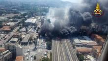 Die Feuerwehr veröffentlichte Aufnahmen vom Unglücksort in Bologna