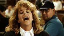 """Meg Ryan in der Orgasmus-Szene von """"Harry und Sally"""""""