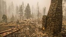 Nur der Kamin steht noch: Die Waldbrände haben in Kalifornien hunderte Wohnhäuser zerstört