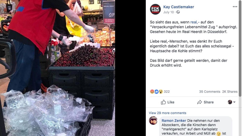 Das Bild wurde etliche Male geteilt – Kunden machten ihrem Ärger unter dem Posting Luft