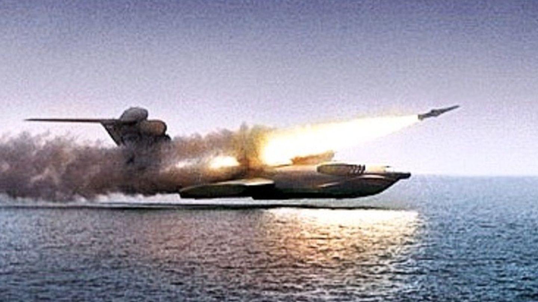 Ein Ekroplan kann Lenkwaffen mit hoher Geschwindigkeit transportieren.