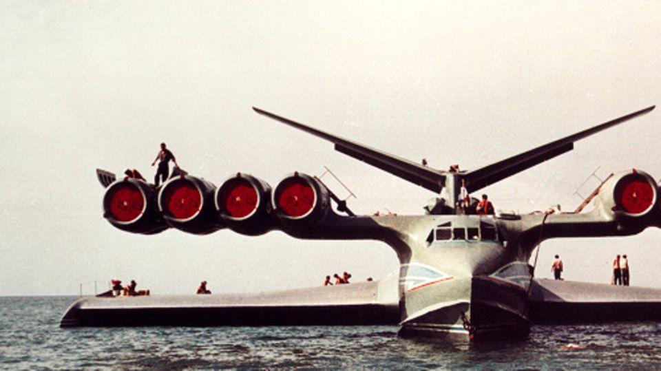 The Caspian Sea monster sank in 1980 - due to a pilot error during take-off.