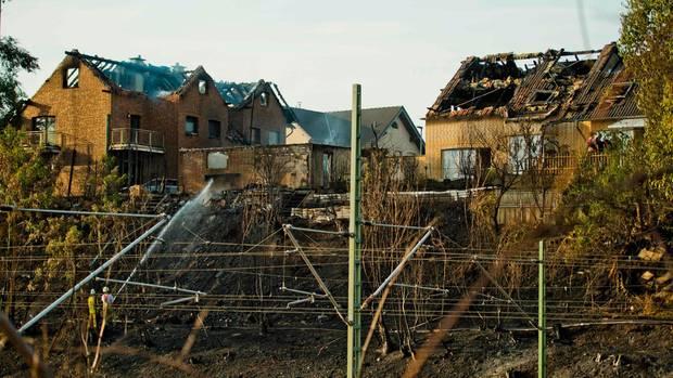 Acht Gebäude wurden teils massiv beschädigt.