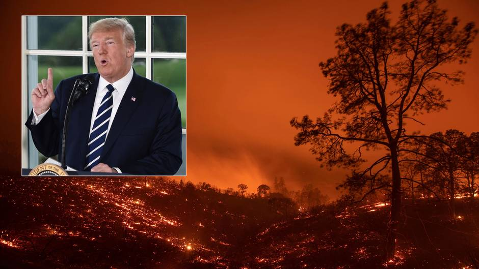 US-Präsident Donald Trump verwirrt mit seinen Tweets zu kalifornischen Waldbränden