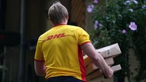 DHL-Paketboten sind eigentlich immer in Zeitnot