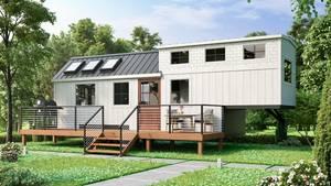 Sieht aus wie ein richtiges Haus - kann aber von Ort zu Ort gezogen werden.