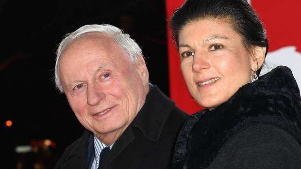 Oskar Lafontaine und seine FrauSahra Wagenknecht