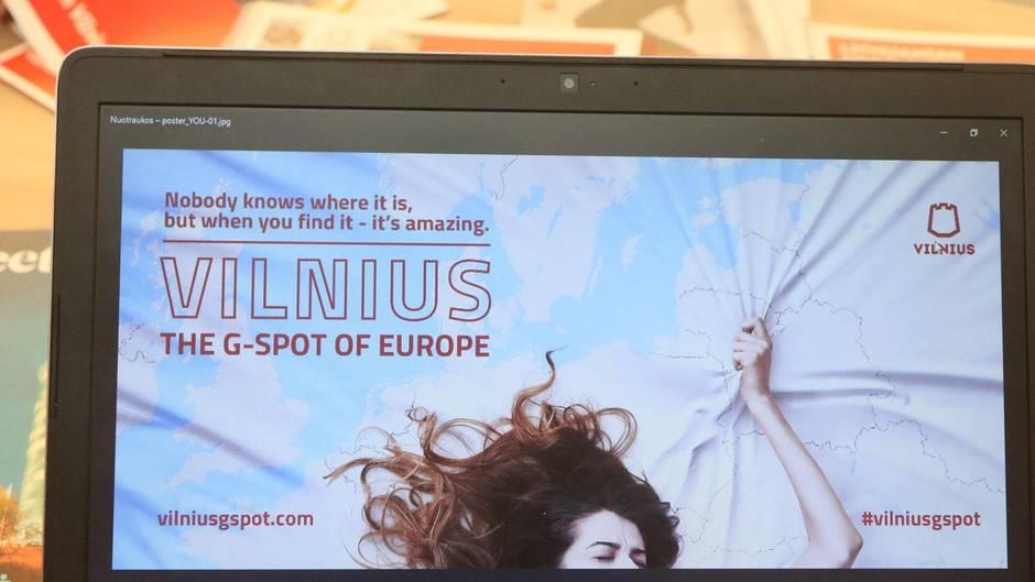 """Vilnius, der """"G-Punkt Europas"""". Neue Werbekampagne sorgt für Wirbel."""