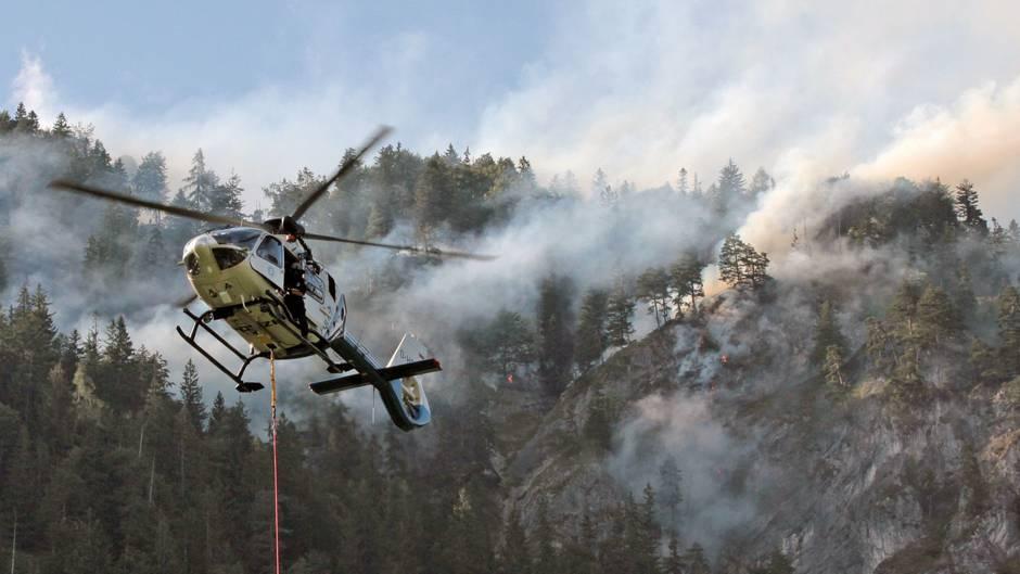 Waldbrand bei Oberaudorf in Bayern