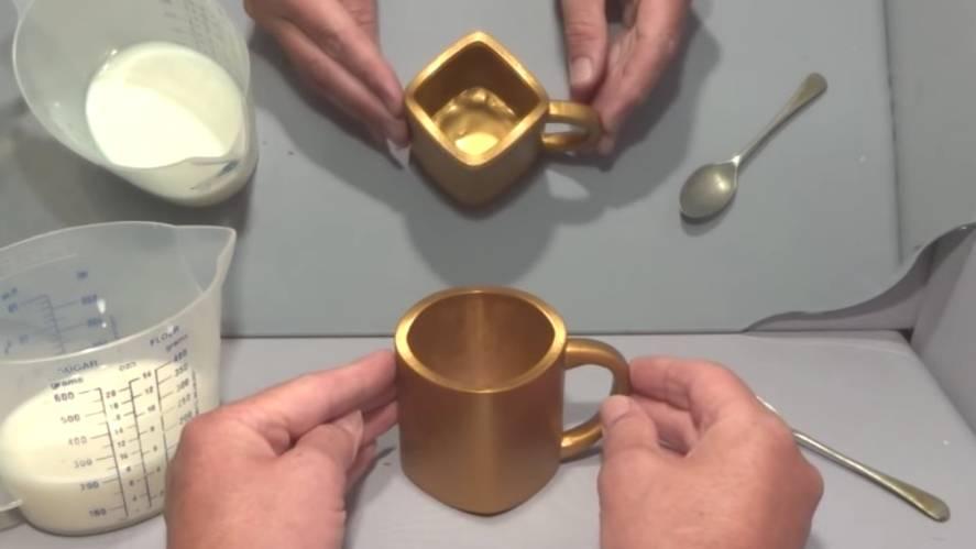 Optische Illusion: Rund oder eckig? Diese Tasse treibt das Netz in den Wahnsinn