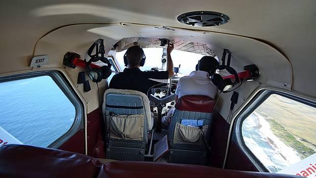 Gut inSchuss ist der Flieger, der neben der Cockpit-Crew Platz für fünf Passagiere bietet.