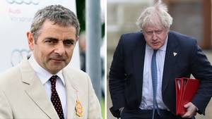 Rowan Atkinson Boris Johnson