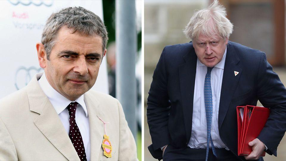 Rowan Atkinson Boris Johnson