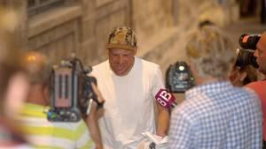 Der frühere Radprofi Jan Ullrich am vergangenen Samstag vor einem Gerichtsgebäude auf Mallorca. Wenige Tage später sollte er in Frankfurt erneut festgenommen werden.