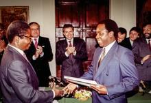 Friedensverhandlungen im Kloster: 1992 mit der Regierung und Rebellen aus Mosambik