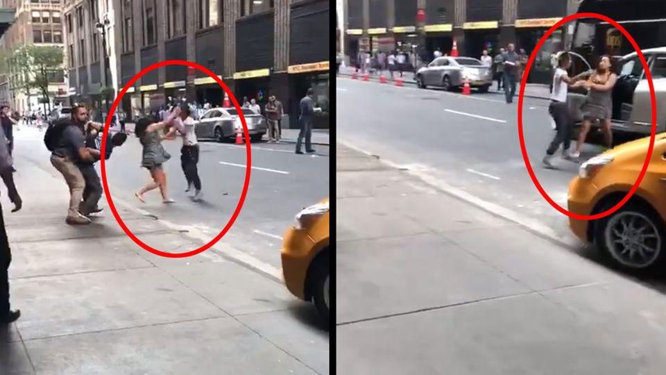 Straßen-Kampf: Rammen, Beißen, Schlagen - Taxi-Fahrerin rastet wegen Vorfahrt-Streit aus