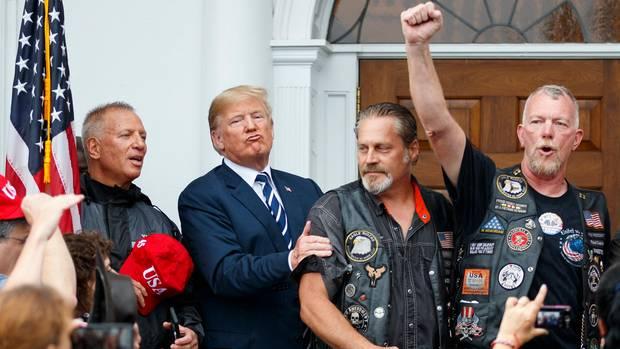 Bikers for Trump am Weißen Haus